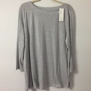 Eileen Fisher XL Linen organic tunic striped shirt